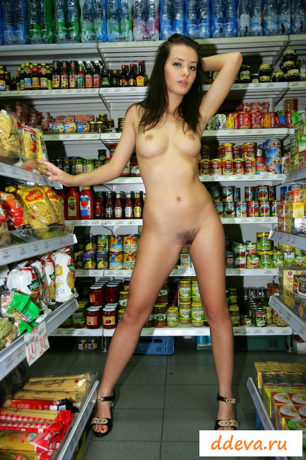 Girls nude in a shop — photo 14